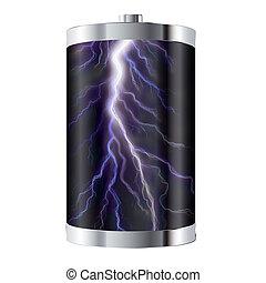 bateria, relampago
