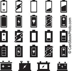 bateria, vetorial