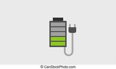 baterry charge level indication plug animation hd