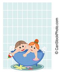 bath., ילדים