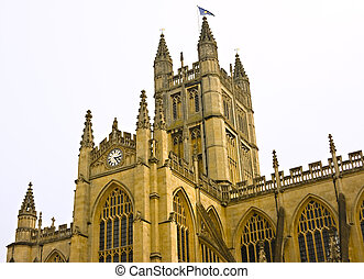 bath abbey - A view of the Abbey in Bath Somerset UK