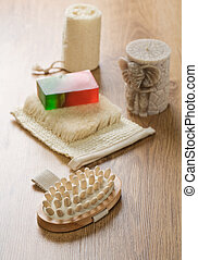 bath accessories with candle