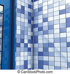bath blue tiles and door