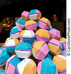 Big Bunch of Colourful Bath Bombs Soaps