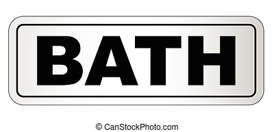 Bath City Nameplate - The city of Bath nameplate on a white...