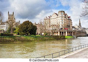 Bath England Uk - River Avon Bath England UK Europe