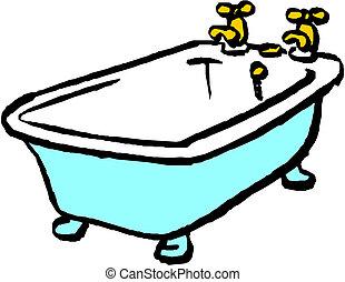 Bath. Vector illustration on white background