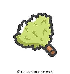 Bath green Broom Vector icon Cartoon illustration. - Cob of ...