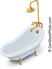 Bath. Eps10 vector illustration. Isolated on white...