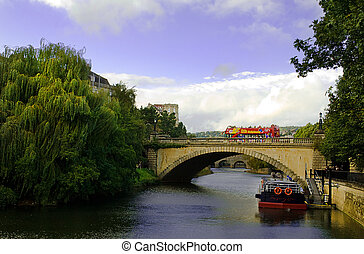 Bath, north somerset - A view of the aquaduct in Bath, North...