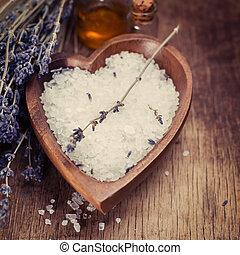 Bath Salt with Lavender Flowers