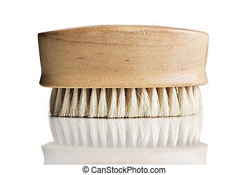 Bath scrub brush on white