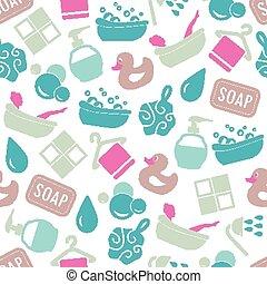 bath seamless pattern