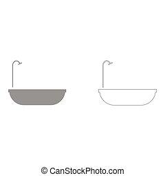 Bath set icon .
