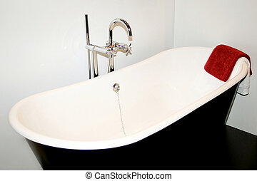Bath towel - Modern bath with classic jet and towel