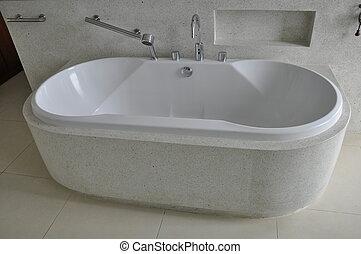 Bath Tub in Hotel Room