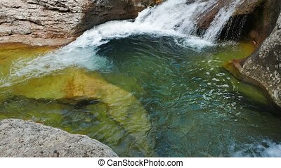Bath Youth. River Auzun Uzen, the Grand Canyon of Crimea....
