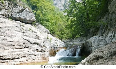 Bath Youth, water the Grand Canyon of Crimea. UltraHD (4K)