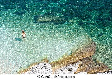 Bathers, Agia Efimia sea Kefalonia - Greece