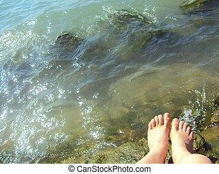 bathing in the sun