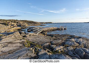 Bathing site at Slatterna at Orust in Sweden