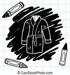 bathrobe doodle