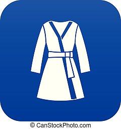 Bathrobe icon digital blue