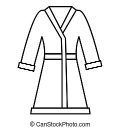 Bathrobe Icon Outline Style