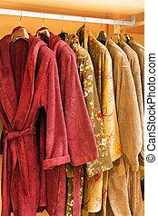 Bathrobe - Several soft and warn bathrobe in closet