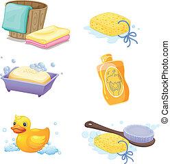 Bathroom accessories - Illustration of the bathroom...