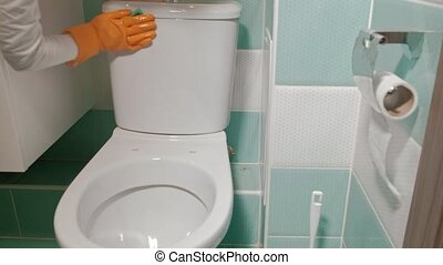 bathroom and toilet cleaning