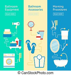 Bathroom banner set