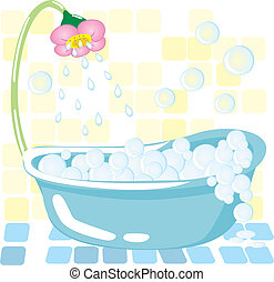 bathroom - Beautiful dream bathroom, illustrion of home...