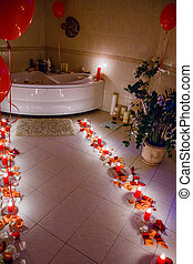 Bathroom by candlelight