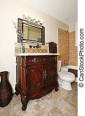 Bathroom cabinet with mirror - bathroom with nice cherry...