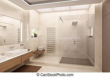bathroom - The interior of the bathroom in a contemporary...