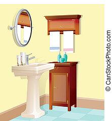 Bathroom - vector illustration of bathroom