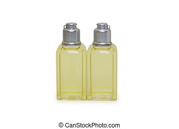 Bathroom cosmetics set isolated on white