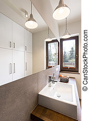 Bathroom designed with idea and style