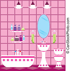 Bathroom - Picture of a bathroom with accessories and...