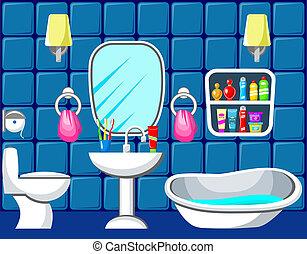 Bathroom. Vector illustration