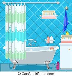 bathroom fittings - Bathroom equipment. Bath on the legs of...