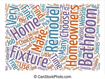 Bathroom Fixtures text background word cloud concept