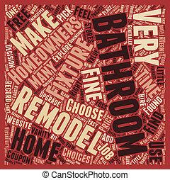 Bathroom Fixtures text background wordcloud concept