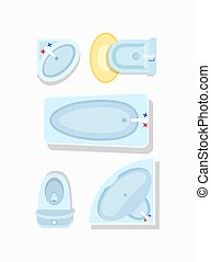 Bathroom Furniture Icon Vector Illustration