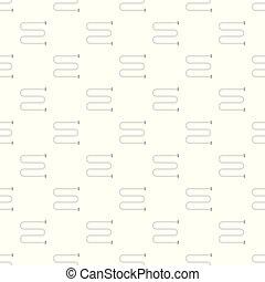 Bathroom heater pattern seamless vector