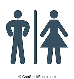 Bathroom icon on white background.