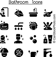 Bathroom icon set vector illustration graphic design