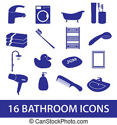 bathroom icons set eps10