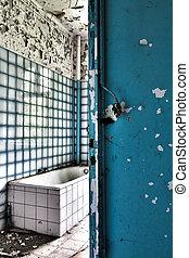 Bathroom in abandoned house